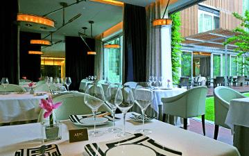 Restaurant ABaC, vista del menjador