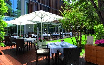 Restaurant ABaC, vista de la terrassa