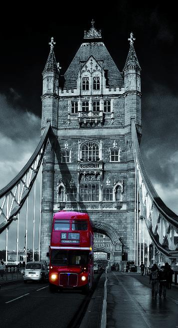 "Bus ""Routemaster"" sobre el Pont de Londres"