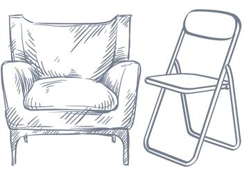 Poltrones o cadires plegables?