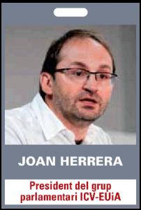Joan Herrera. President del grup parlamentari ICV.EUiA