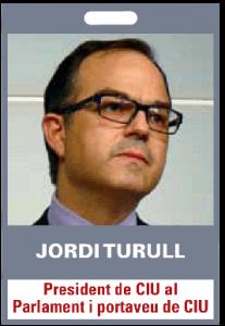 Jordi Tururll. President de CIU al Parlament i portaveu de CIU