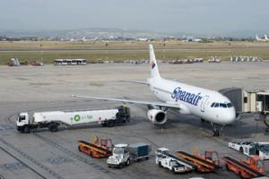 Avió Spanair a l'aeroport