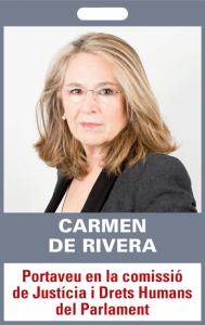 Carmen de Rivera. Portaveu en la comissió de Justícia i Drets Humans del Parlament