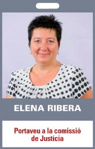 Elena Ribera. Portaveu a la comissió de Justícia