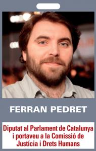 Ferran Pedret. Diputat al Parlament de Catalunya i portaveu a la Comissió de Justícia i Drets Humans