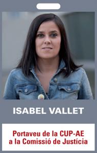 Isabel Vallet. Portaveu de la CUP-AE a la Comissió de Justícia