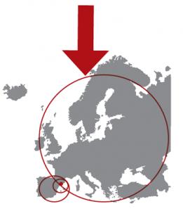Mapa d'europa. Donació d'òrgans de Catalunya