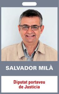 Salvador Milà. Diputat portaveu de Justícia