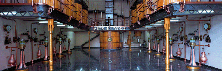 Anís del Mono. Sala de destil·lació