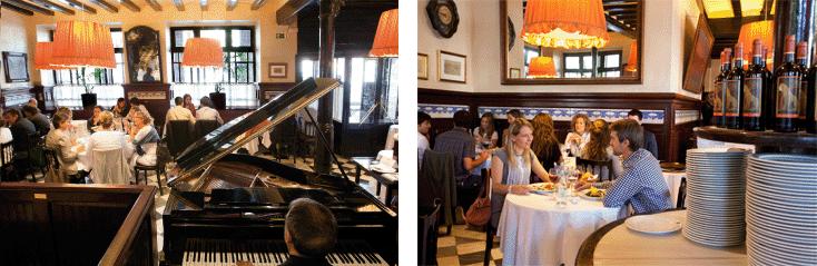 Restaurant 7 Portes interior