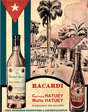 Anunci de Bacardí de la dècada de 1930.  Foto: Bacardí