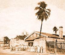 Primera destilería Bacardí en Santiago de Cuba. Foto: Bacardí